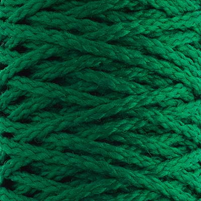 Braided Macrame Cord 4mm 70yds Kelly Green image