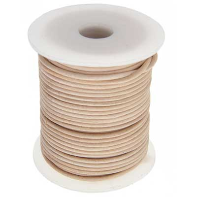 Dazzle-It Genuine Leather Cord 2mm Natural Spool image
