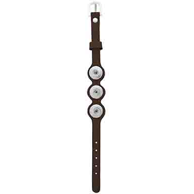 Klik - Small Leather Bracelet w/Buckle Chocolate Brown image