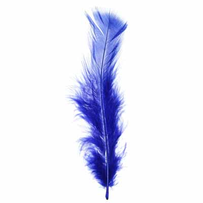 Marabou Feathers 4-6in Royal (3 Headers x6g ea) Header image