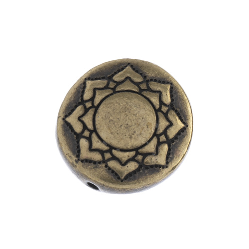 T.C. - Puffed Bead 14mm Lotus Brass Oxide image