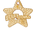 T.C. - TOGGLE STAR SET HAMMERED ANT. GOLD image