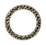T.C. - LINK RING HAMMERED LARGE BRASS OXIDE image