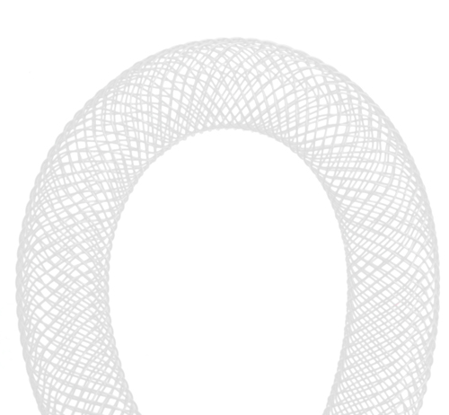 NYLON MESH TUBING 9-10mm WHITE image