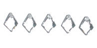 GLASS BEAD BRIOLETTES 9x7MM DIAM.SHAPE CRYSTAL image