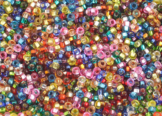 SEEDBEADS SILVER LINED ASSORTED 10/0 image