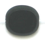 GLASS CUT BEAD FLAT OVAL10/9MM STRUNG-BLACK image