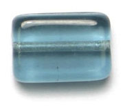 GLASS BEAD FLAT 12/8MM MONTANA STRUNG RECTANGULAR SHAPE image