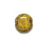 GLASS BEAD FLAT FANCY 12mm YELLOW MARBLE STRUNG image