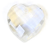 GLASS BEAD BRIOLETTES 10x10mm HEART SHAPE CRYSTAL image