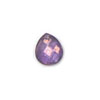 GLASS BEAD BRIOLETTES 11x10MM PEAR SHAPE PURPLE LUSTRE image