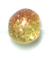GLASS BEAD CRACKED 6MM 3-TONE CRY/YELLOW/CARAMEL STRUNG image