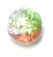 GLASS BEAD CRACKED 6MM 3-TONE CRY/GREEN/RED STRUNG image