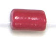 "GLASS CAT BEAD 4x6mm RED STRUNG TUBE 1X16""/68-70 PCS image"