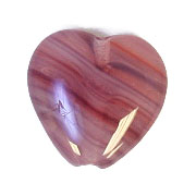 GLASS PRESSED BEADS 10x10mm HEART RED/BROWN image