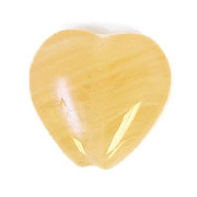 GLASS PRESSED BEADS 10x10mm HEART BUTTER YELLOW image