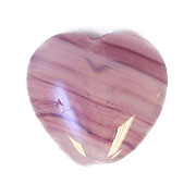 GLASS PRESSED BEADS 10x10mm HEART VIOLET STRIPE image