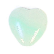 GLASS PRESSED BEADS 10x10mm HEART MINT GREEN image