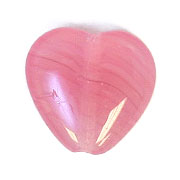 GLASS PRESSED BEADS 10x10mm HEART FUCHSIA image