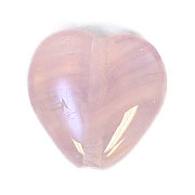 GLASS PRESSED BEADS 10x10mm HEART LT. VIOLET image