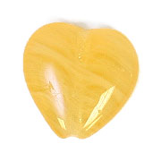 GLASS PRESSED BEADS 10x10mm HEART MUSTARD image