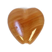 GLASS PRESSED BEADS 10x10mm HEART NUT BROWN image