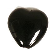 GLASS PRESSED BEADS 10x10mm HEART BLACK image