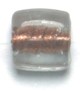 GLASS BEADS 10x10mm SQUARE FLAT CRYSTAL COPPER LINED image