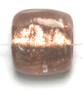 GLASS BEADS 10x10mm SQUARE FLAT COPPER FOILED BEADS image