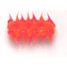 RUBBER SPIKED BEADS 15MM X 6MM TUBE ORANGE/PINK image