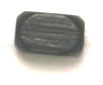WOOD BEAD RECTANGLE BEVEL 4x6mm  BLACK image